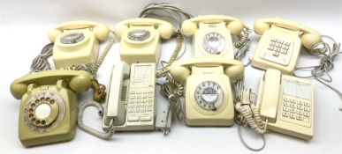 Collection of cream and ivory vintage telephones (7)