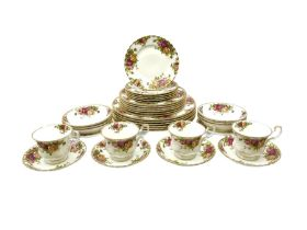 Royal Albert Old Country Roses pattern tea and dinner wares