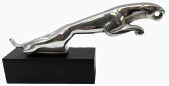 Modern Jaguar style car mascot