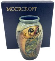Moorcroft vase of slight ovoid form