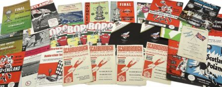 1960s and later football programmes including Leicester City V Tottenham Hotspur May 6th 1961