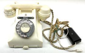 Vintage cream Bakelite telephone