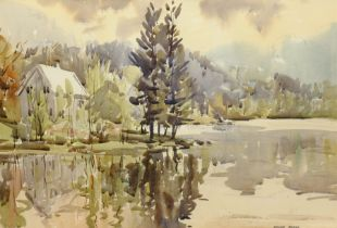 Angus Rands (British 1922-1985): House on the Lakeside