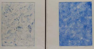 Geoffrey Harrop (British 1947-): 'Mountains in Norway' and 'Windblown I & II'