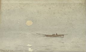 Ernest Dade (Staithes Group 1868-1934): Rowing in Open Water at Dawn