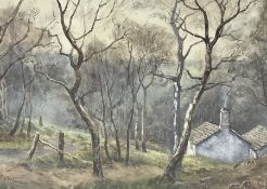 Florence Lockwood (British 1861-1937): Cottage in the Woods