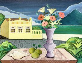 Nildo Martins (Brazilian 1948-): 'Coastal Villa'