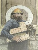 Alan Clark after Frank Meadow Sutcliffe: 'Henry Freeman Whitby Lifeboat Man (Survivor of the Whitby