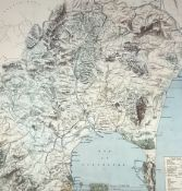 English School (20th century): 'Hunting Map of the Country Near Gibraltar'
