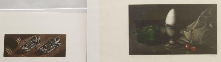 Ramiro Undabeytia (Spanish 1952-): 'Despues' and 'Cerezas II' (Cherries)