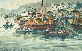 Chin Chung (Chinese b.1933): Harbour Scene