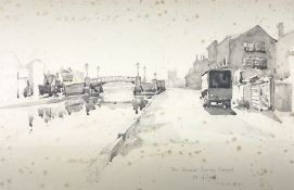Albert Thomas Pile (British 1882-1981): 'The Grand Surrey Canal'