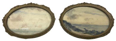 Ernest Higgins Rigg (Staithes Group 1868-1947): Coastal Horizon Landscapes