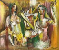 Francis Perera (Sri Lankan 1931-): 'Divided Love'