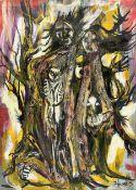 Francis Perera (Sri Lankan 1931-): 'Humanised Bird Tree'