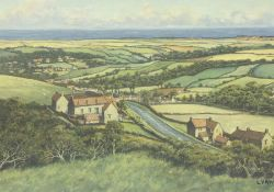 Nathan Stanley Brown (British 1890-1980): 'Blue Bank Sleights Nr. Whitby'