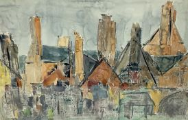 Attrib. Ken Spooner (British b.1942): Cornish Houses