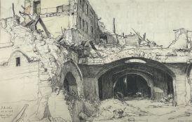Albert Thomas Pile (British 1882-1981): 'London Adelphi Adam Street and Beyond