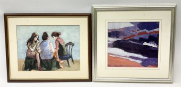 Angela Stones (British 1914-1995): 'Abstract' and 'What's the Tea?'
