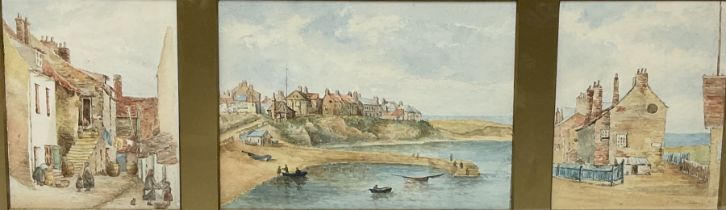 English School (20th century): Fishermen's Cottages at Cullercoats Northumberland