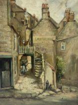 English School (19th/20th century): 'The Laurel Inn Robin Hoods Bay'