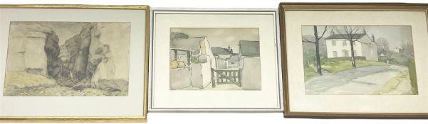 David Russell Anderson (British 1884-1976): 'Gordale Scar'