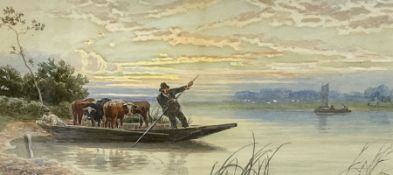 John MacPherson (Scottish fl.1858-1891): Punting Cows