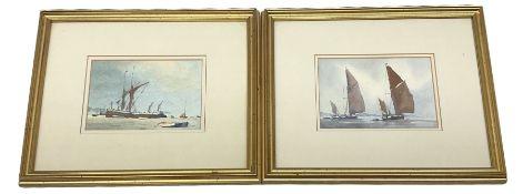 Sidney Cardew (British b.1931):Thames Sailing Barges