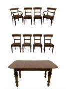 19th century mahogany extending dining table