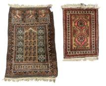 Afghan Baluch pray rug