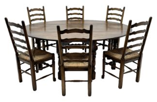 17th century style oak dining table