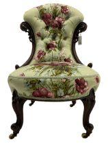 Victorian mahogany framed nursing chair