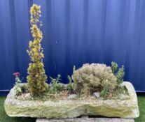 18th/19th century shallow sandstone trough/planter