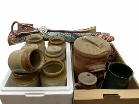 Seven stoneware jars