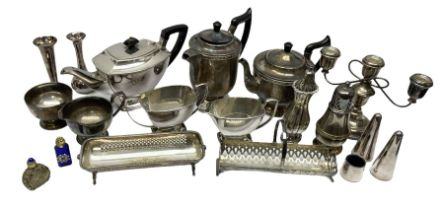 Silver plated tea wares