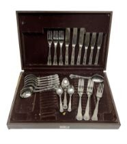 Part canteen of Kings pattern cutlery