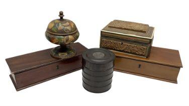 Two mahogany boxes