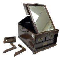 Chinese brass mounted hardwood vanity box