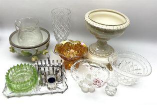 Assorted ceramics and glass