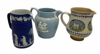Wedgwood queensware jug H15cm