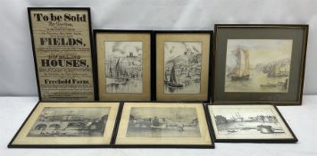 19th century auction notice and six Whitby pictures (7)