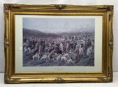 Large gilt framed print