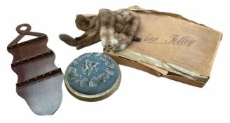 Fur stole by The National Fur Company in 'Ann Tolley' cardboard box