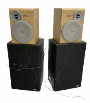Pair of JVC SP-E55TN Hi-Fi stereo speakers 70W and pair of Philips Flat Metal Cone Woofers (untested