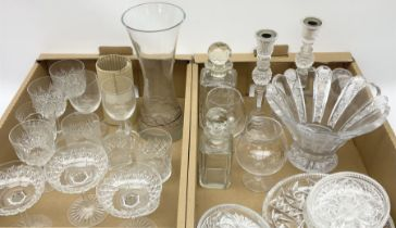 Group of assorted Victorian and later glassware