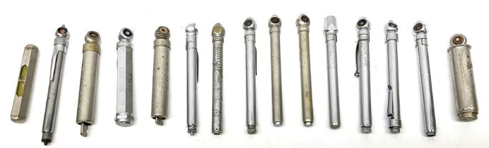 Group of tyre pressure gauges