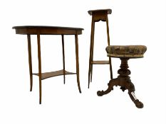 Victorian rosewood revolving piano stool