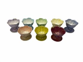Mixed set of lustre fruit dishes