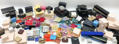 Group of jewellery boxes and packaging