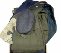 Quantity of military clothing to include jackets